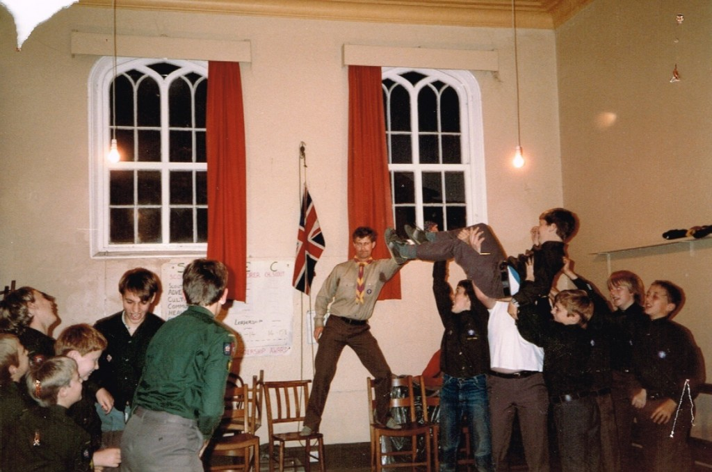 Troop Night 1985 led by Steve