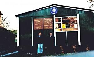 Andrew & Stuart at the new Hut, June 1986