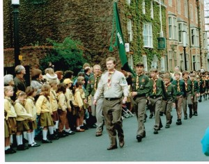 Steve leading St Georges Day Parade