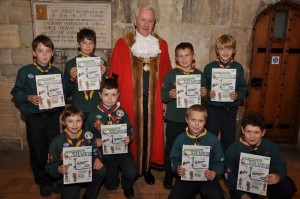 In November there was a presentation at the Guildhall for all those who had achieved their Silver Chief Scout Award