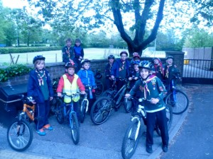 We also went to Rowntree Park by bike